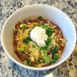 Lean Beef Chili with Corn and Beans