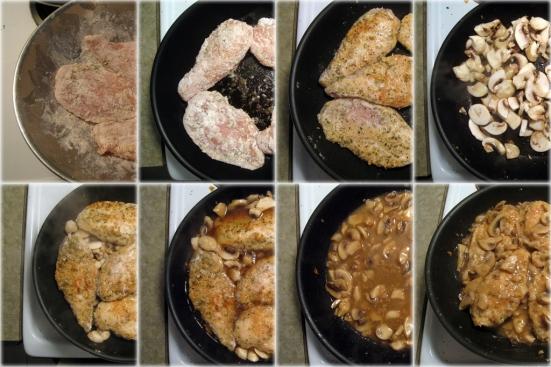 Chicken Marsala Stages