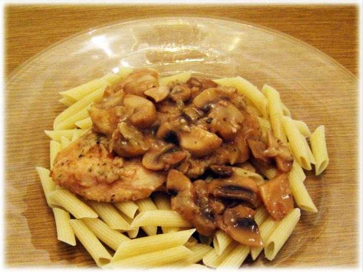 Chicken Marsala and Pasta