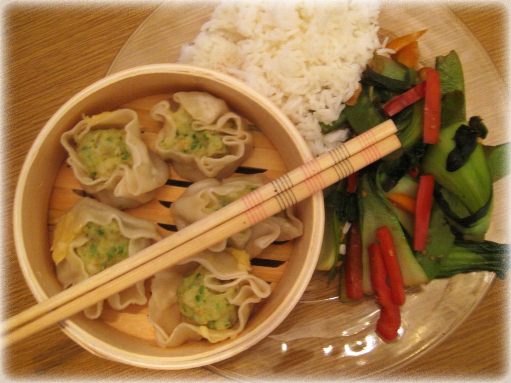 Shrimp Shumai and Veggie Stir Fry   Man Fuel - a food blog