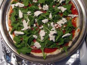 Goat Cheese and Arugula Pizza by Man Fuel: https://manfuel.wordpress.com