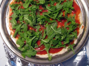 Arugula on Homemade Pizza by Man Fuel: https://manfuel.wordpress.com