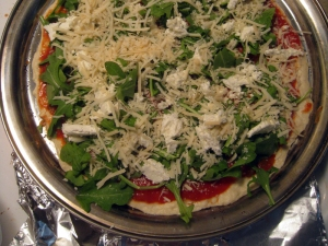 Goat Cheese and Arugula Pizza by Man Fuel: https://manfuel.wordpress.com