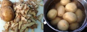 Peeling Mashed Potatoes to Make Mashed Potatoes