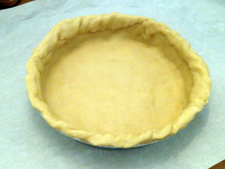 Raw Pie Crust Formed