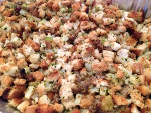 Sausage and Apple Stuffing by Man Fuel Food Blog