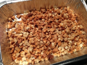 Toasted Bread Cubes for Stuffing
