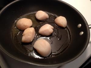 Pan Searing Scallops