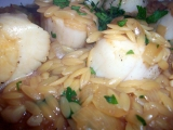 Scallops and Orzo Risotto