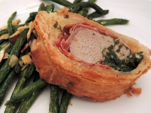 Man Fuel Food Blog - Pork Wellington Stuffed with Herbed Cheese and Spinach