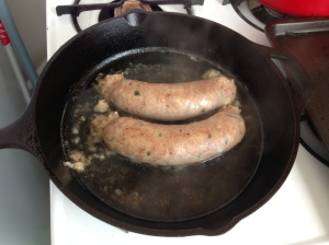 Boudin Simmered in Beer by Man Fuel