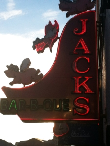 Jacks Bar-B-Que Sign