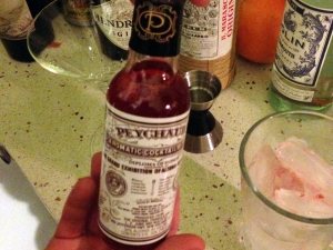 Pink Martinez - Peychaud Bitters