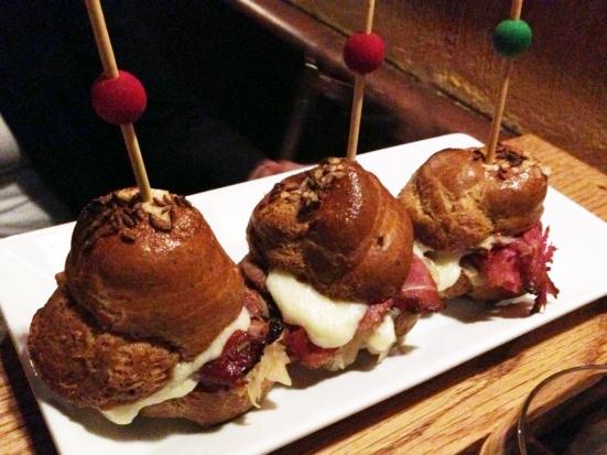 Chez Pascal - Pastrami on Pretzel Rolls