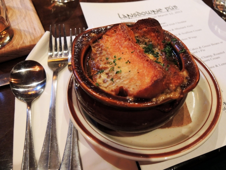 Lansdowne Pub - Onion Ale Soup