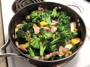 Sauteed Vegetables for Pasta Primavera