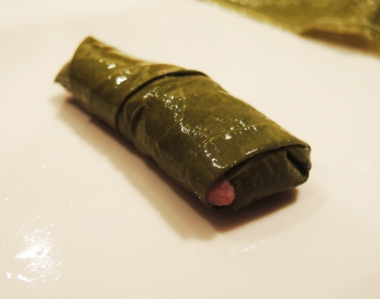 One Rolled Stuffed Grape Leaf by Man Fuel
