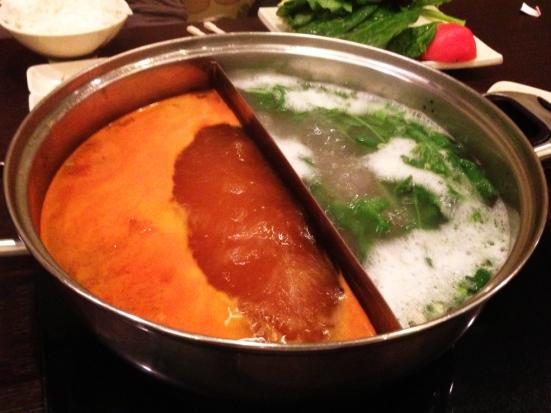 Shabu - Quincy MA - Boiling Kimchi and Pho