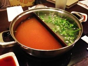 Shabu - Quincy MA - Kimchi and Pho Broth