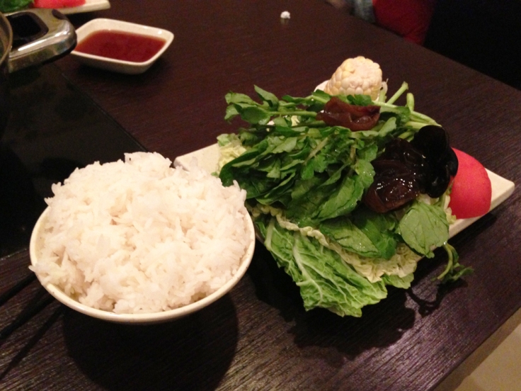 Shabu - Quincy MA - Rice and Vegetables
