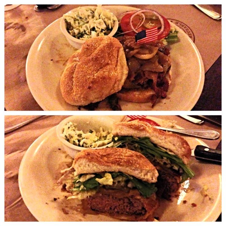 Teds Montana Bison Cheeseburger with Bacon