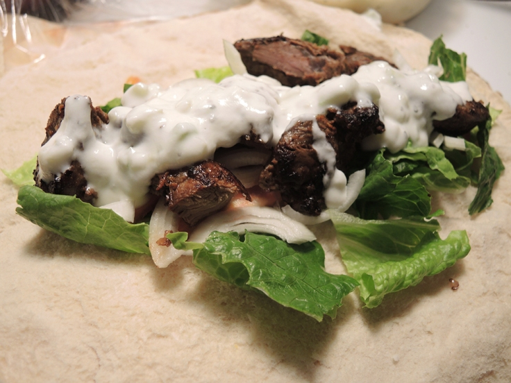 Yogurt on Lamb Roll Up