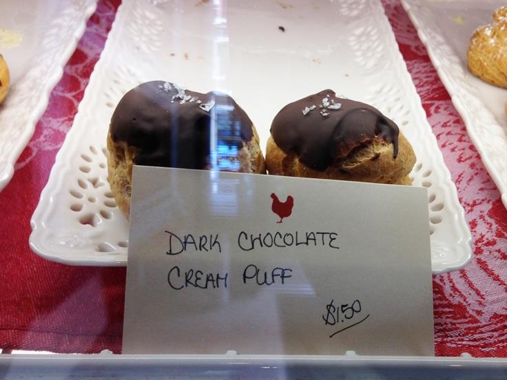 Dark Chocolate Cream Puff