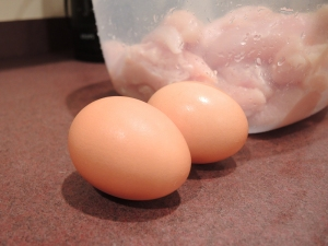 Eggs for Chicken Tenderloins Recipe by Man Fuel