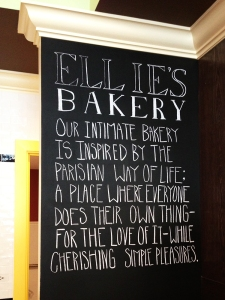 Ellies Bakery Motto