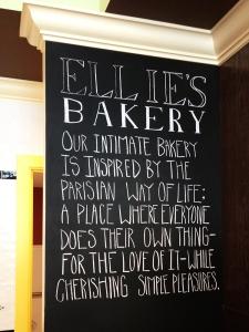 Ellies Bakery Motto