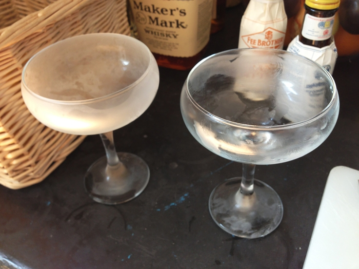 Frosted Glasses for Cocktails by Man Fuel