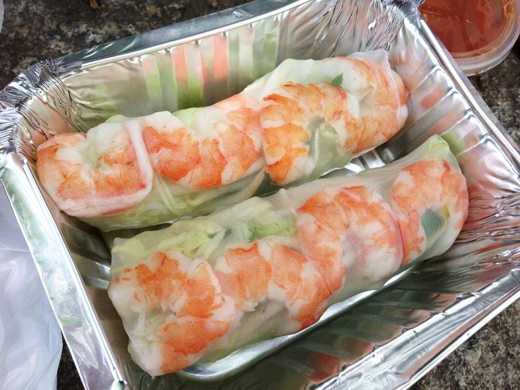 Lotus Pepper Food Truck - Fresh Spring Rolls - Review by Man Fuel