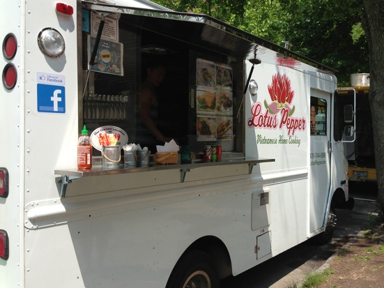 Lotus Pepper Food Truck Parked - Review by Man Fuel