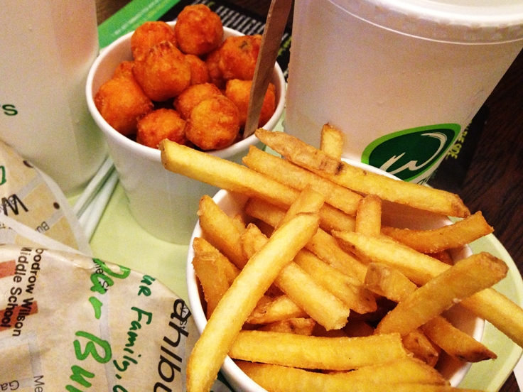 Wahlburgers French Fries and Sweet Potato Fries