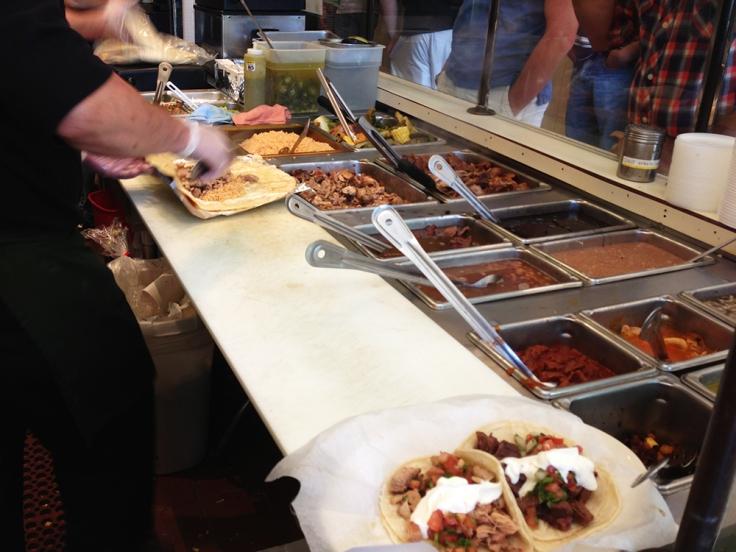 Annas Taqueria Burrito Assembly