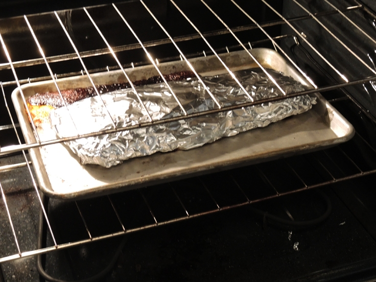 Beef Ribs Wrapped in Aluminum Foil in the Oven by Man Fuel