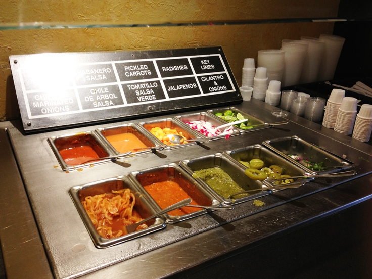 Felipes Burritos Toppings Bar
