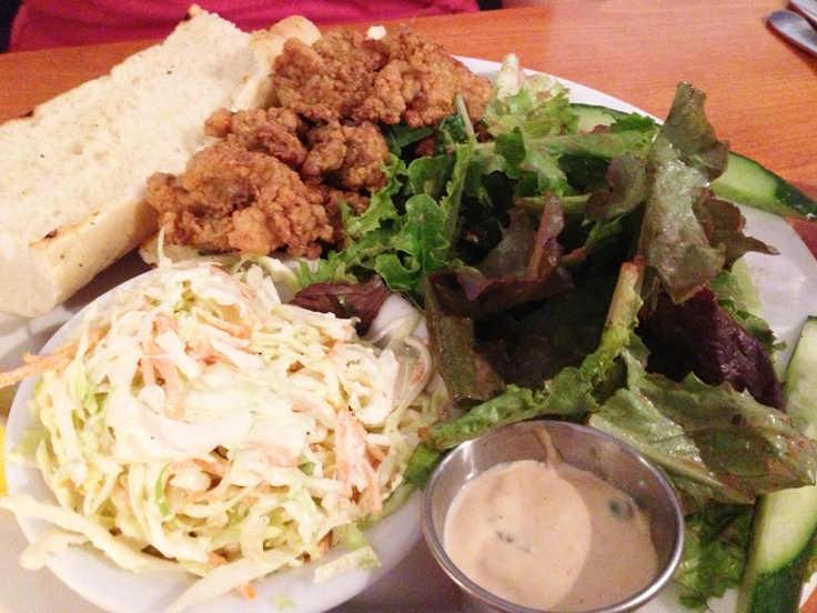 Fried Oyster Po Boy From Matunuck Oyster Bar