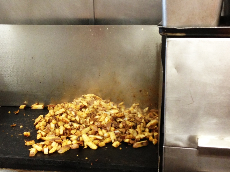 Homefries at Ted's Famous Steamed Burgers