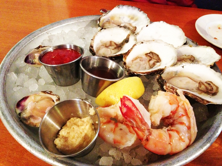 Oysters and Shrimp from Matunuck Oyster Bar