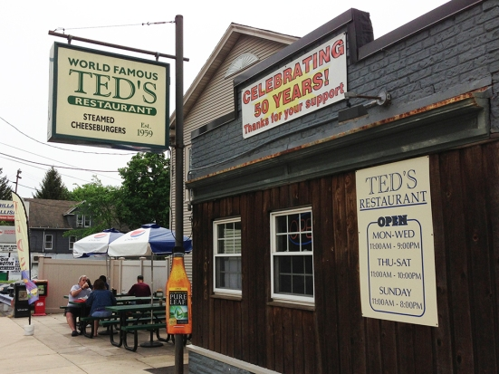 The Outside of Ted's Famous Steamed Burgers