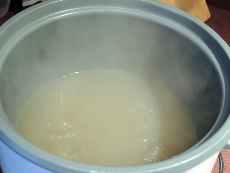 Boiling Clam Juice
