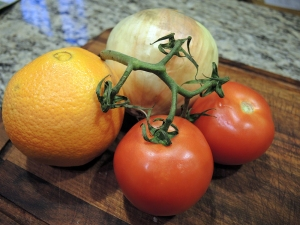 Orange Tomato and Onion for Shrimp