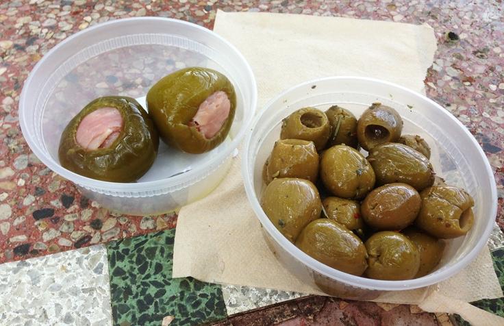 Venda Ravioli - Providence RI - Proscuitto Stuffed Peppers and Sicilian Olives