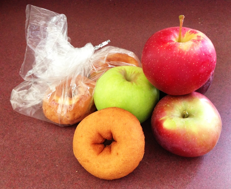 Apples and Donuts from Dame Farm and Orchard