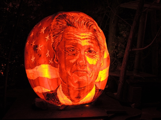 Bill Clinton - Jack-o-lantern Spectacular Roger Williams Park Zoo