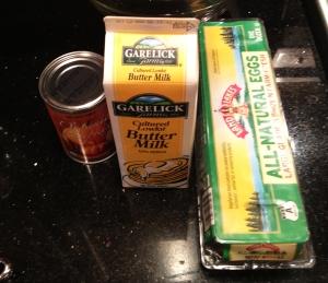 Buttermilk Pancake Wet Ingredients