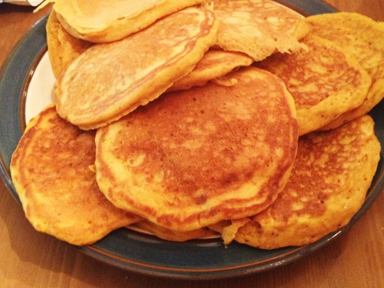 Buttermilk Pumpkin Pancakes on Man Fuel
