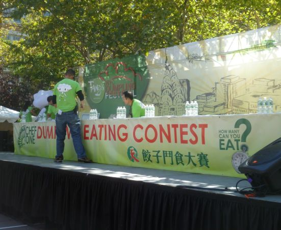 Chef One - Dumpling Eating Contest - NY