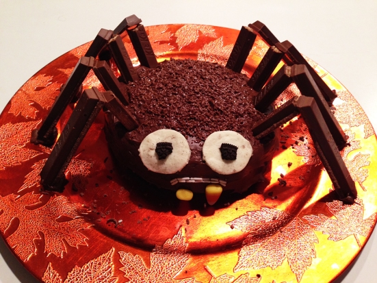 Chocolate Spider Cake on Man Fuel Food Blog